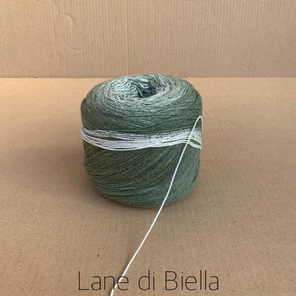 Gomitolo Lana Cotone Verde