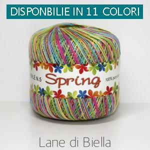 Gomitolo Puro Cotone Perlè Spring Multicolore