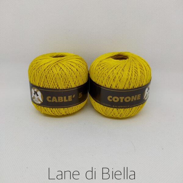Gomitoli Cotone Cablè Gialli