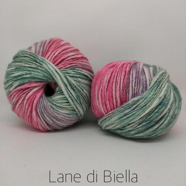 Batuffolo Lane di Biella Multicolore Rosa Verde