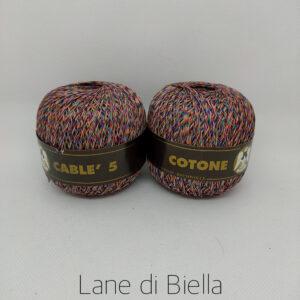 Gomitoli Cotone Cablè Multicolore