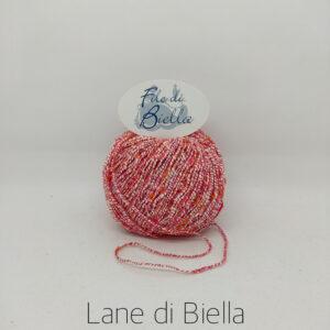 Gomitolo Lane di Biella Multicolore Bianco Rosa
