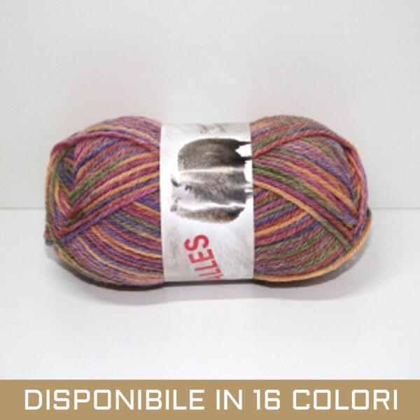 Gomitolo Misto Lana Galles Unito Multicolor