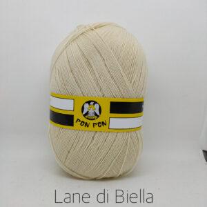 Gomitolo Pon Pon Misto Lana Bianco