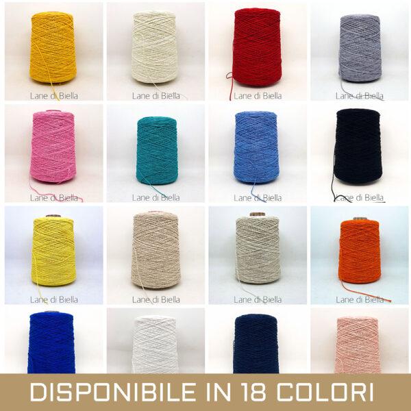 Rocche di puro cotone in vari colori