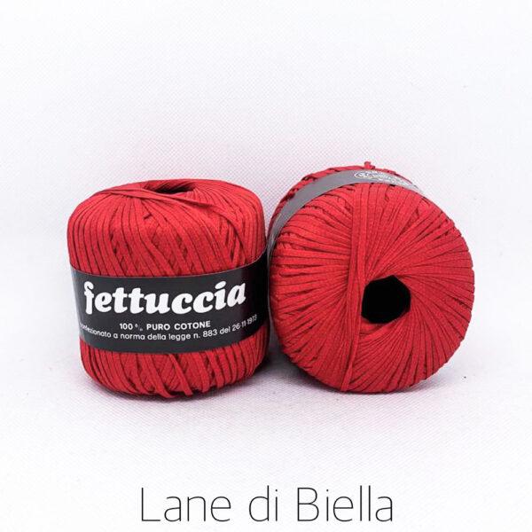 gomitolo fettuccia per borse puro cotone rosso