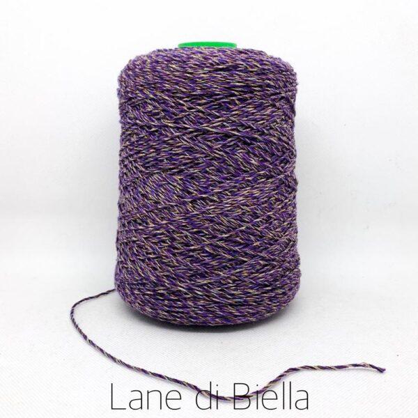 rocca cotone polyamide viola giallo lurex