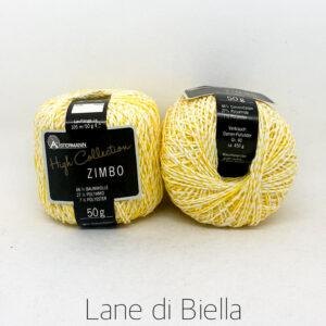 gomitolo zimbo cotone polyestere polyamide giallo bianco