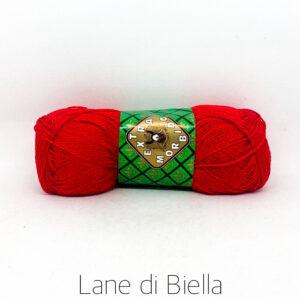 gomitolo puro cotone egiziano makò pettinato gasato mercerizzato rosso roses
