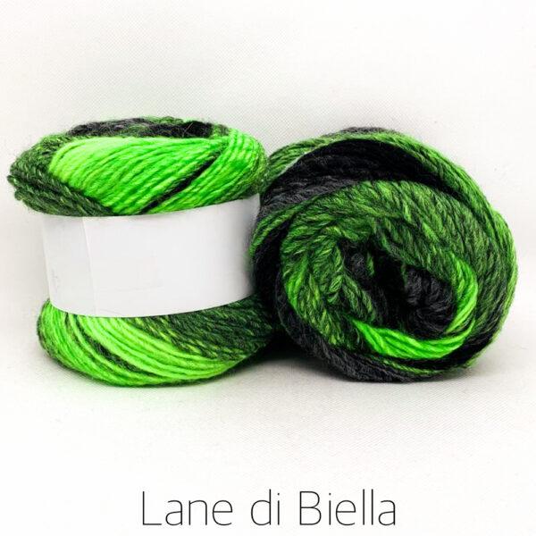 Misto Lana Nero e Verde Lane di Biella