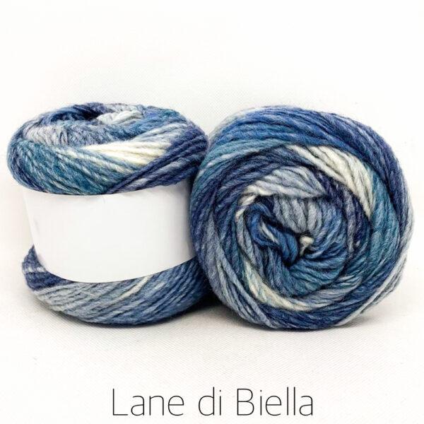 Misto Lana Bianco e Blu