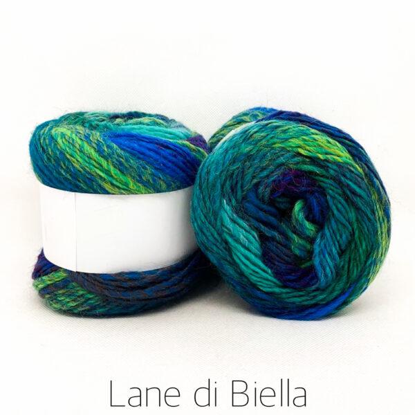 Misto Lana Blu Azzurro Verde - Lane di Biella