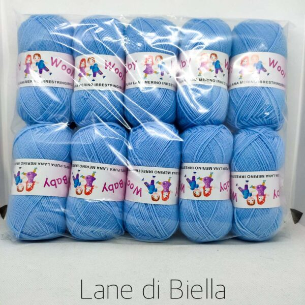 pacco gomitoli pura lana baby azzurro