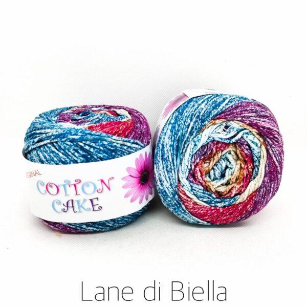 gomitolo roses cotton cake cotone azzurro viola giallo rosso