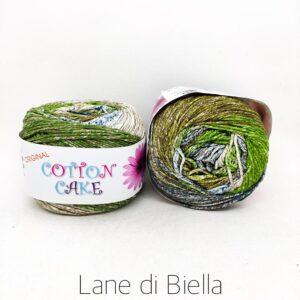 gomitolo roses cotton cake cotone verde marrone grigio azzurro