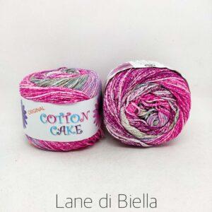 gomitolo roses cotton cake cotone fuxia rosa grigio bianco