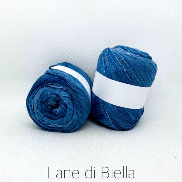 gomitolo cotone viscosa azzurro blu