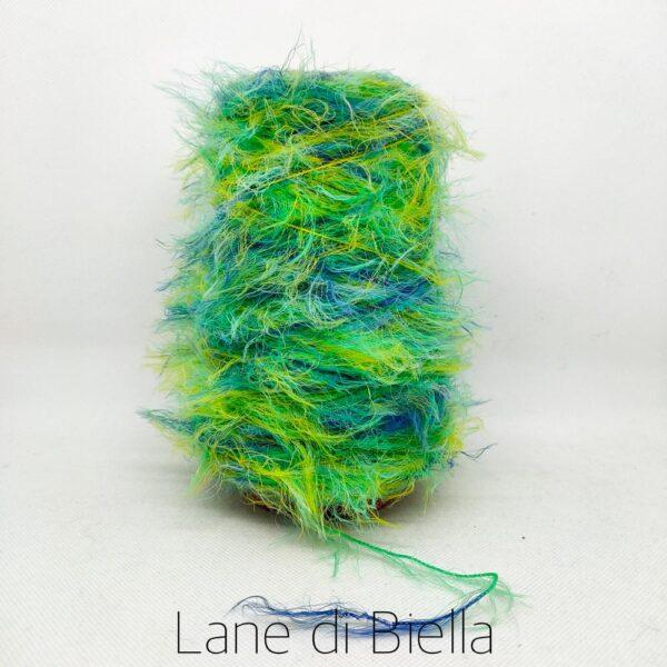 rocca polyestere pelo verde azzurro
