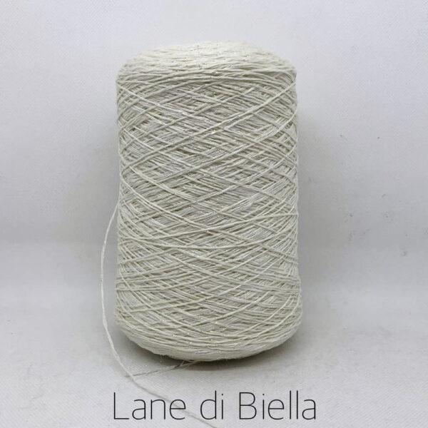 rocca cotone lino lurex bianco naturale