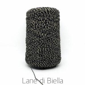 rocca lino polyamide nero oro lurex