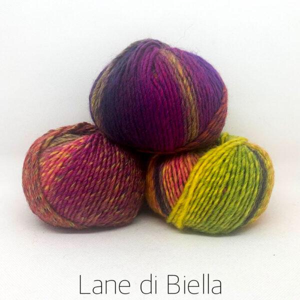gomitoli lana acrilico pacco giallo viola arancio verde