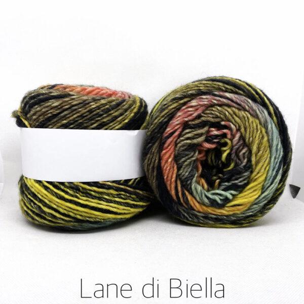 gomitolo misto lana acrilico giallo marrone azzurro verde fuxia cake