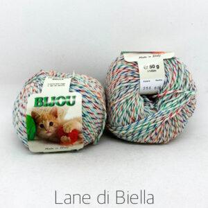 gomitolo bijou pura lana multicolor verde rosso blu bianco