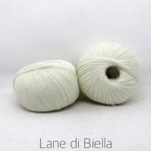 gomitolo pura lana merino bianco naturale irrestringibile