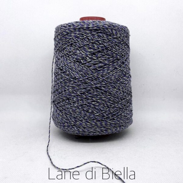 rocca cotone lino polyamide lurex blu giallo melange jeans chiaro
