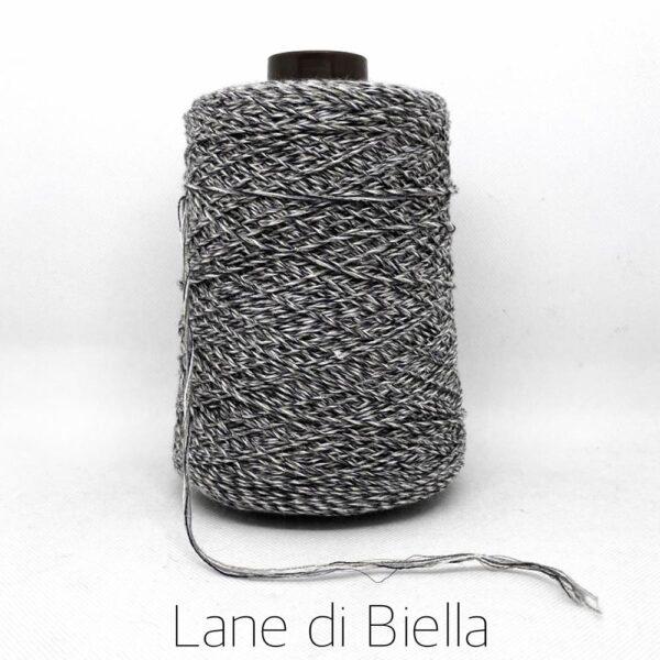rocca lino cotone polyamide lurex grigio blu melange