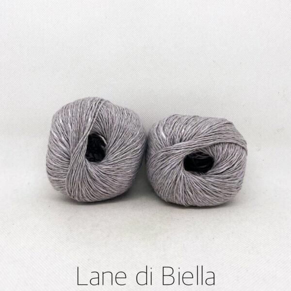 gomitolo lino cotone viscosa grigio