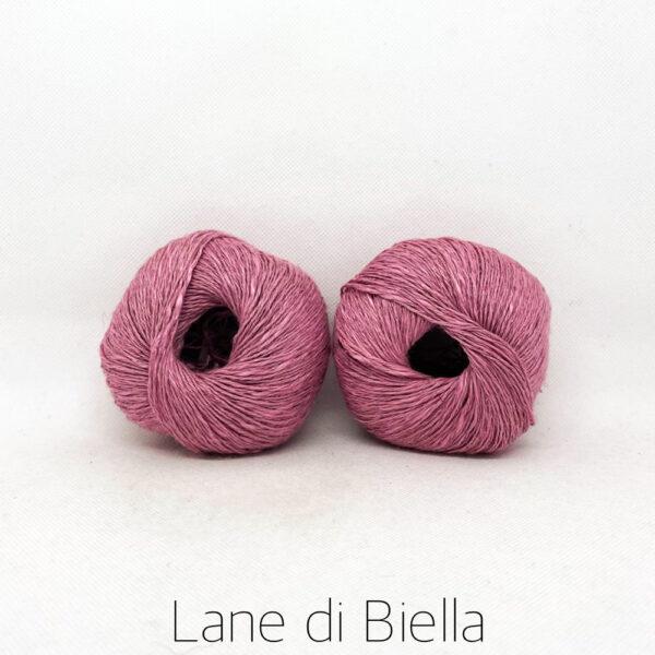 gomitolo lino cotone viscosa rosa