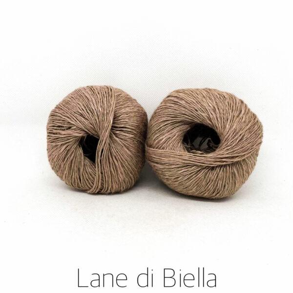 gomitolo lino cotone viscosa marroncino