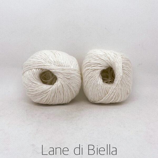 gomitolo lino cotone viscosa bianco
