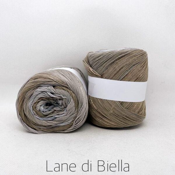 gomitolo cotone viscosa marrone grigio beige