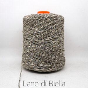 rocca misto cotone lino lurex marrone grigio