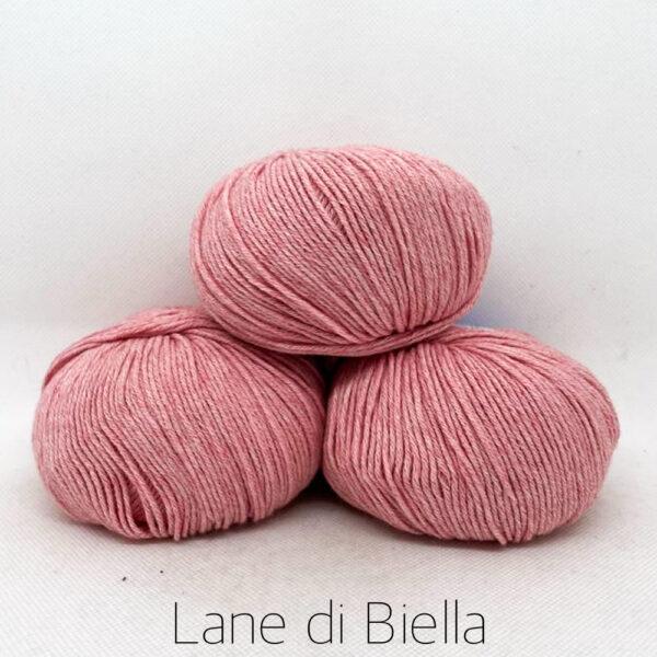 gomitolo misto cotone cachemire 3 pezzi rosa aragosta
