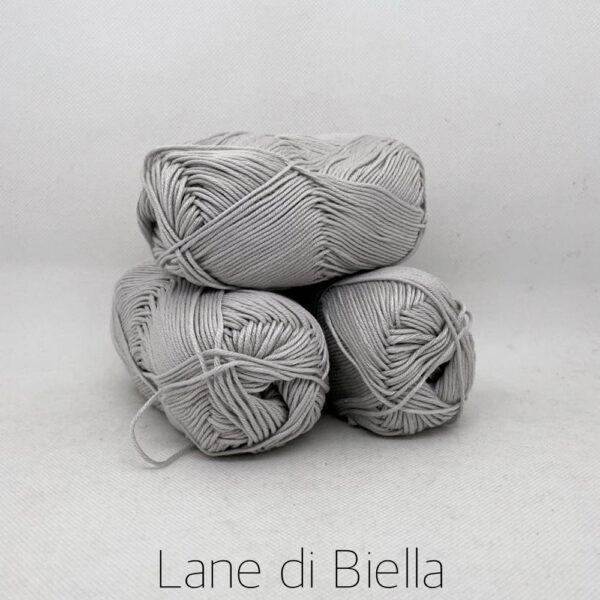 gomitolo puro cotone naturale mercerizzato pacco grigio