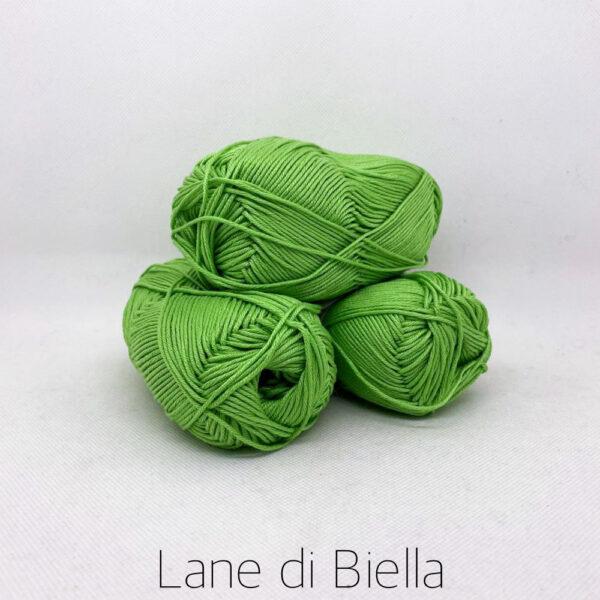 gomitolo puro cotone naturale mercerizzato pacco verde