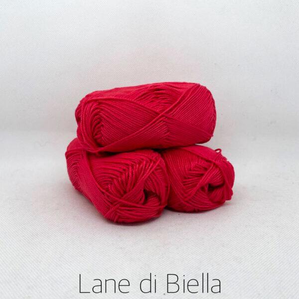 gomitolo puro cotone naturale mercerizzato pacco rosso