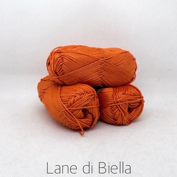 gomitolo puro cotone naturale mercerizzato pacco arancio