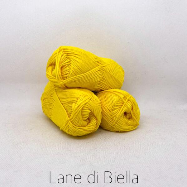 gomitolo puro cotone naturale mercerizzato pacco giallo
