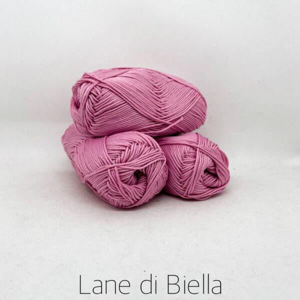 gomitolo puro cotone naturale mercerizzato pacco rosa