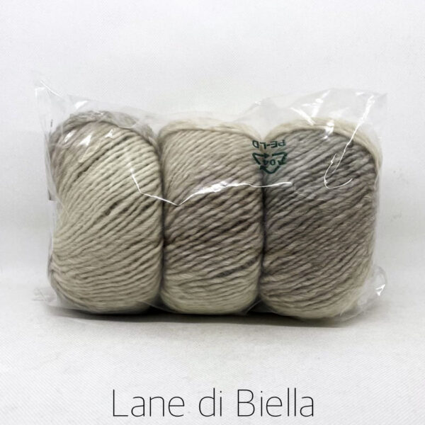 gomitolo lana acrilico beige sfumato