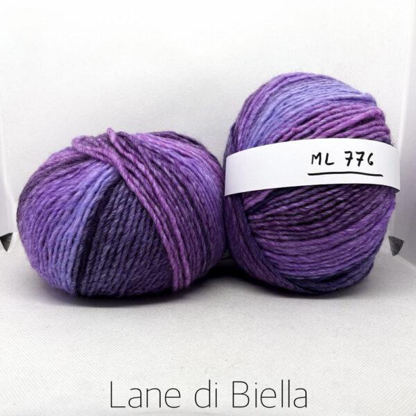 gomitolo lana acrilico fuxia viola azzurro