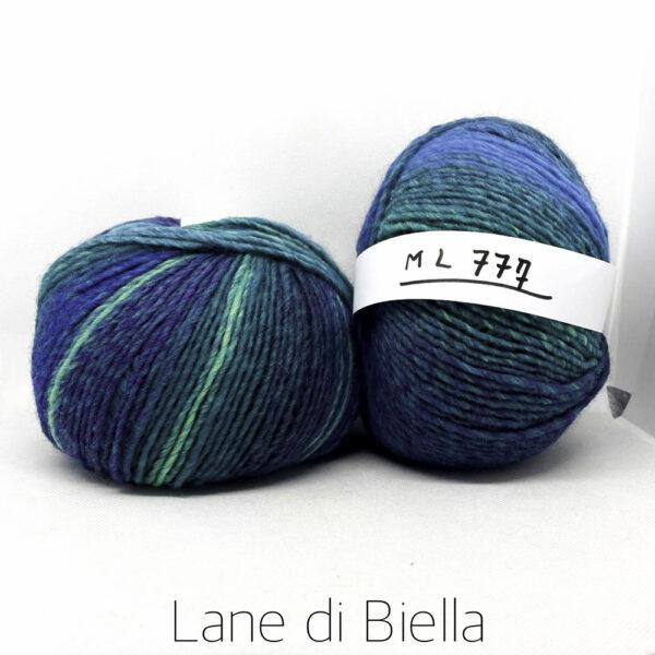 gomitolo lana acrilico blu verde celeste azzurro