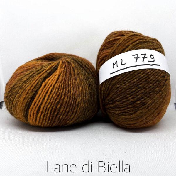 gomitolo lana acrilico arancio marrone