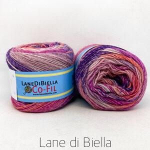 gomitolo misto lana acrilico 350mt rosa viola arancio