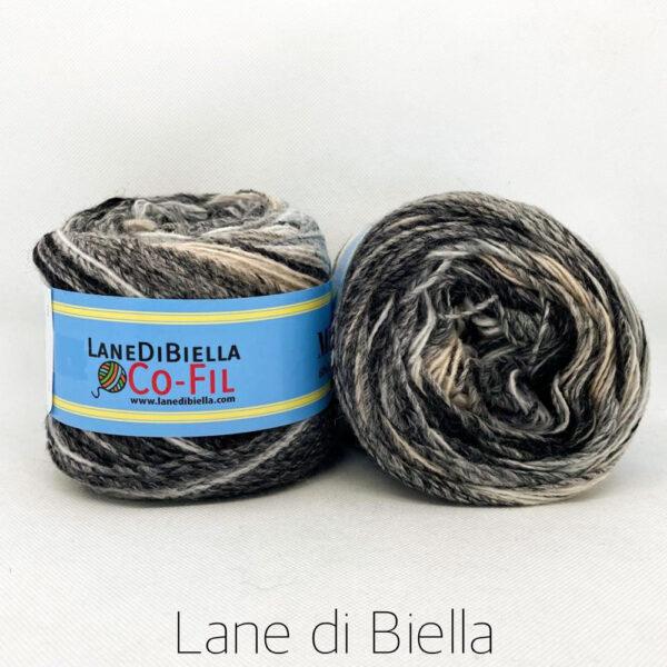 gomitolo misto lana acrilico 350mt nero beige bianco