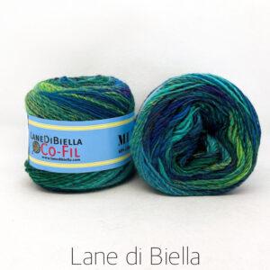 gomitolo misto lana acrilico 350mt verde blu